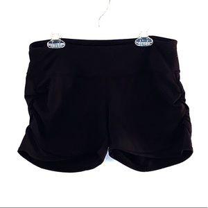 Athleta Black Side Scrunch Shorts Size Small
